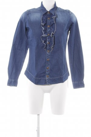More & More Jeanshemd blau Casual-Look