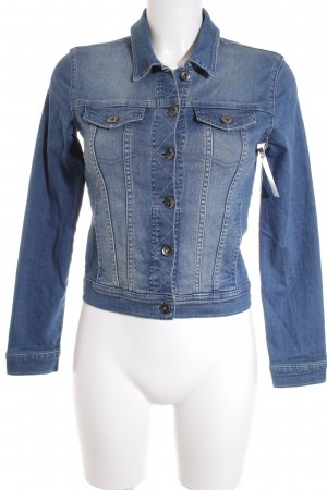 More & More Jeansjacke blau Casual-Look