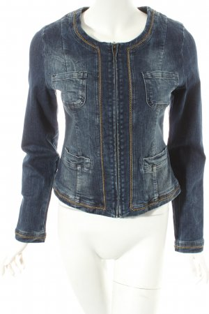 More & More Jeansjacke dunkelblau Street-Fashion-Look