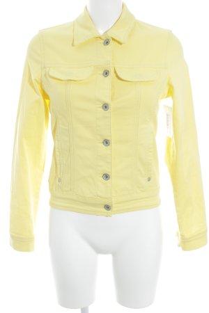 More & More Jeansjacke gelb schlichter Stil