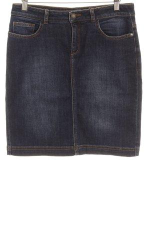 More & More Jupe en jeans bleu foncé Application de badge