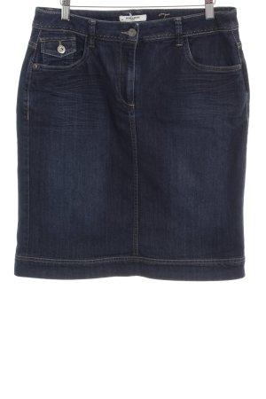 More & More Jupe en jeans bleu foncé style décontracté