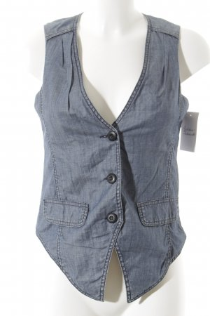 More & More Denim Vest flecked business style