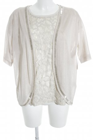 More & More Jersey Twin Set creme florales Muster Casual-Look
