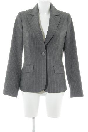 More & More Jerseyblazer grau-dunkelgrau Streifenmuster Business-Look
