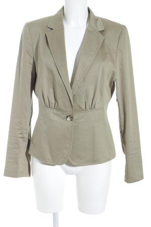 More & More Jersey blazer olijfgroen zakelijke stijl