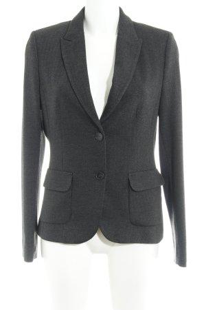 More & More Blazer en jersey noir-gris foncé motif en zigzag style d'affaires