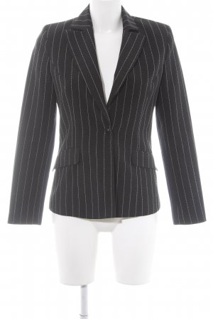 More & More Jerseyblazer schwarz Streifenmuster Business-Look