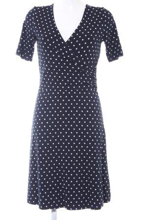 More & More Jerseykleid dunkelblau-weiß Punktemuster Casual-Look