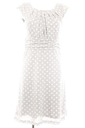 More & More Jerseykleid weiß-hellgrau Punktemuster schlichter Stil