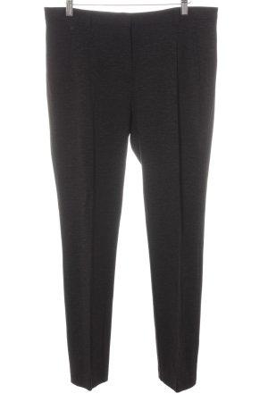 More & More Pantalón de pinza alto negro moteado estilo «business»