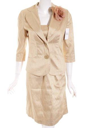 More & More Kleid goldfarben Broschen-Detail