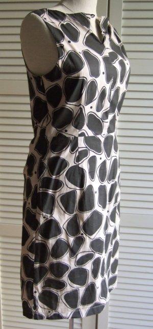 MORE & MORE Kleid Sommerkleid Etuikleid Business graubraun nude S 36
