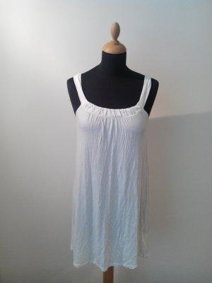 more & more Kleid Träger Schlupfkleid Nachthemd Strandkleid Shirtdress weiß Ibiza