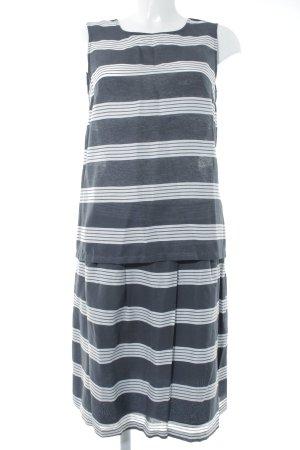 More & More Kostüm dunkelblau-weiß Streifenmuster Elegant
