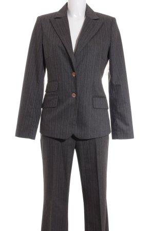 More & More Kostüm dunkelgrau-hellblau Nadelstreifen Business-Look