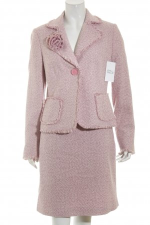 More & More Ladies' Suit light pink-pink abstract pattern '60s style