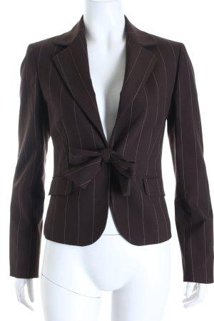 More & More Kurz-Blazer braun-creme Nadelstreifen Business-Look