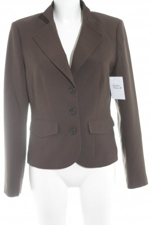 More & More Kurz-Blazer dunkelbraun Business-Look