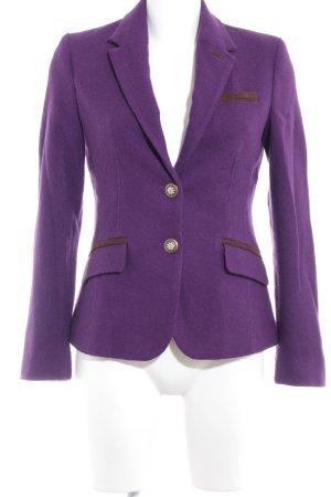 More & More Kurz-Blazer dunkelviolett Business-Look