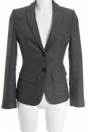 More & More Kurz-Blazer hellgrau-schwarz Business-Look