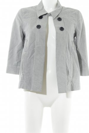 More & More Kurz-Blazer hellgrau-weiß Streifenmuster Casual-Look