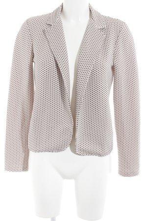 More & More Kurz-Blazer rosé-schwarz Vintage-Look