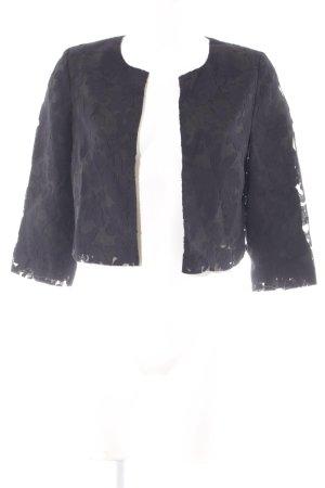 More & More Kurz-Blazer schwarz florales Muster Business-Look