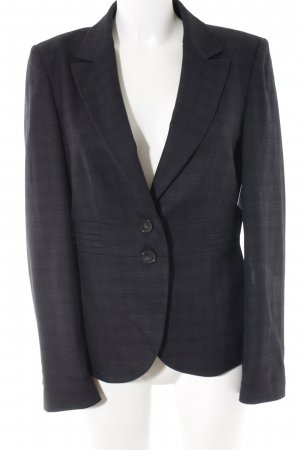 More & More Kurz-Blazer schwarz-grau Karomuster Business-Look