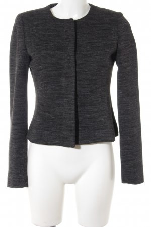 More & More Kurz-Blazer schwarz-grau meliert Business-Look