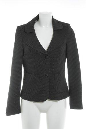 More & More Korte blazer zwart gestippeld patroon elegant