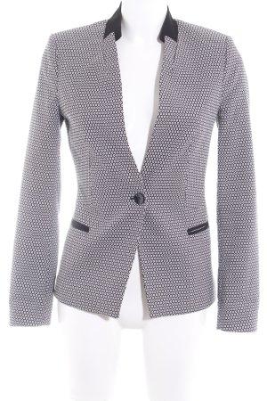 More & More Kurz-Blazer schwarz-weiß grafisches Muster Elegant