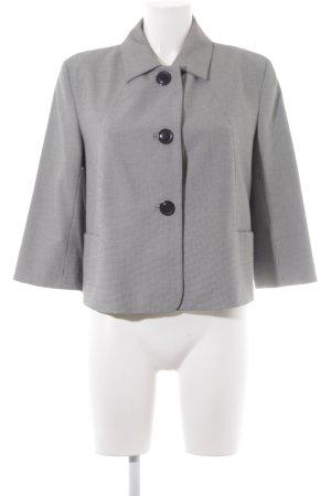 More & More Blazer court noir-blanc motif à carreaux style d'affaires