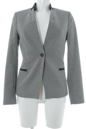 More & More Kurz-Blazer schwarz-weiß Punktemuster Business-Look