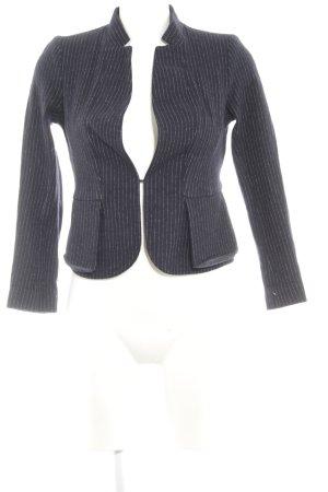 More & More Kurz-Blazer weiß-dunkelblau Nadelstreifen Business-Look