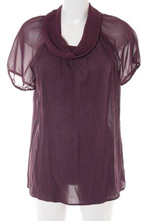 More & More Kurzarm-Bluse purpur Elegant