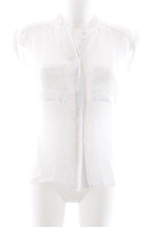 More & More Blouse à manches courtes blanc style décontracté
