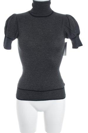 More & More Kurzarmpullover dunkelgrau-schwarz schlichter Stil