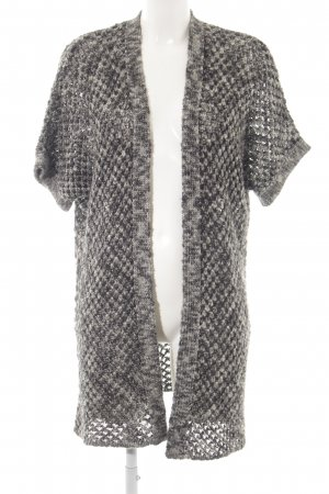 More & More Short Sleeve Knitted Jacket dark grey-grey classic style