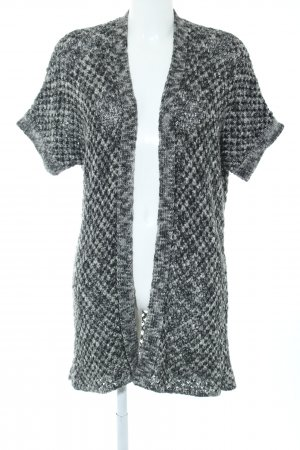 More & More Short Sleeve Knitted Jacket black-white flecked casual look