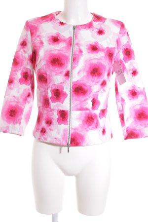 More & More Kurzjacke florales Muster klassischer Stil