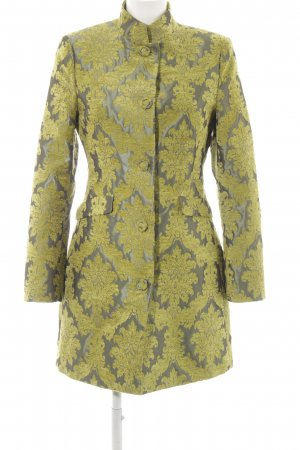 More & More Manteau court jaune citron vert-gris motif abstrait