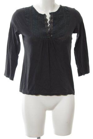 More & More Langarm-Bluse schwarz Casual-Look