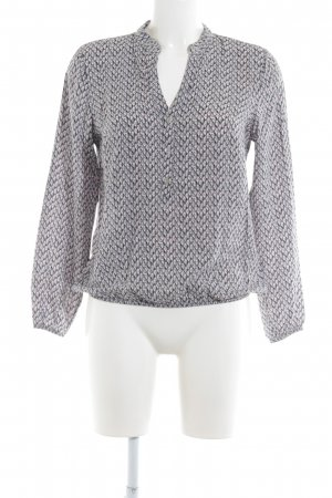 More & More Langarm-Bluse abstraktes Muster Casual-Look