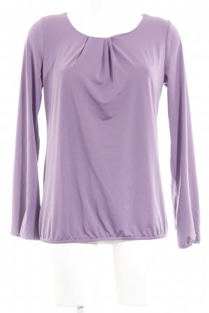 More & More Langarm-Bluse blauviolett Casual-Look