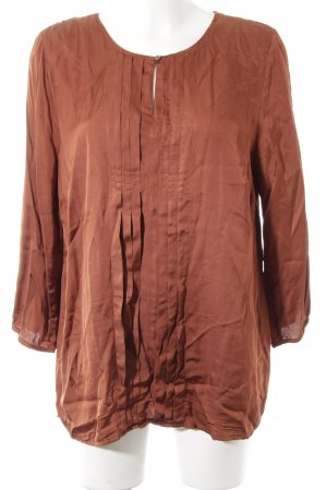 More & More Langarm-Bluse cognac Casual-Look