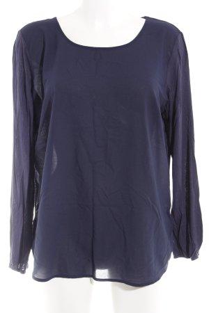 More & More Langarm-Bluse dunkelblau Business-Look