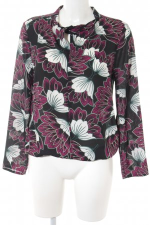 More & More Langarm-Bluse florales Muster Romantik-Look