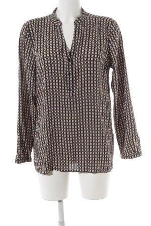 More & More Langarm-Bluse grafisches Muster schlichter Stil