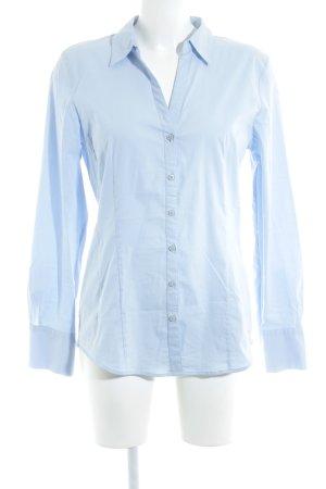 More & More Langarm-Bluse himmelblau Business-Look